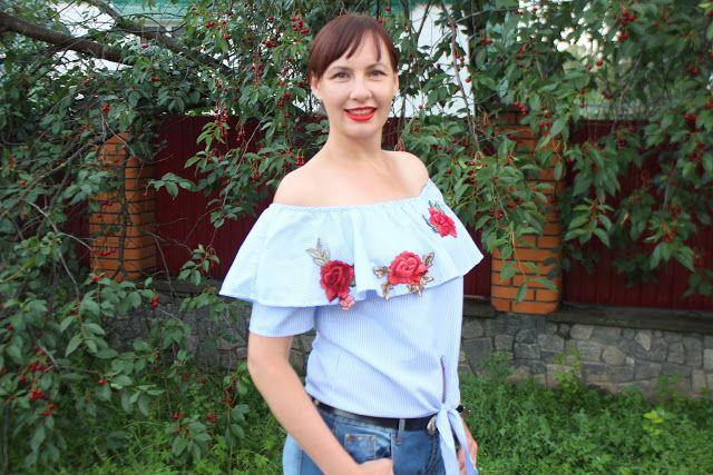 ©Бусинка: Тренд лета 2017 - платья и блузки с открытыми плеч...
