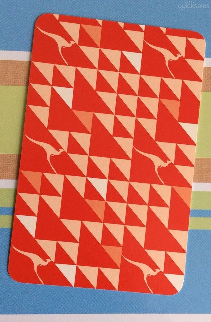 1 Qantas red  playing card /  swap card *FREE POST* by tassiesingers_collectables - $1.50