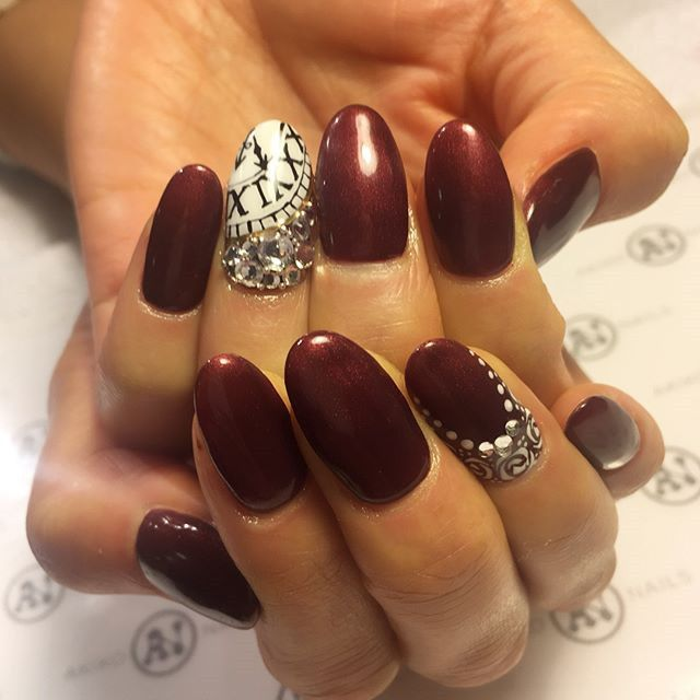 Bright Colors For New Year Nails 2019 Clock Design New Year S Nails Nail Art Designs New Years Nail Art