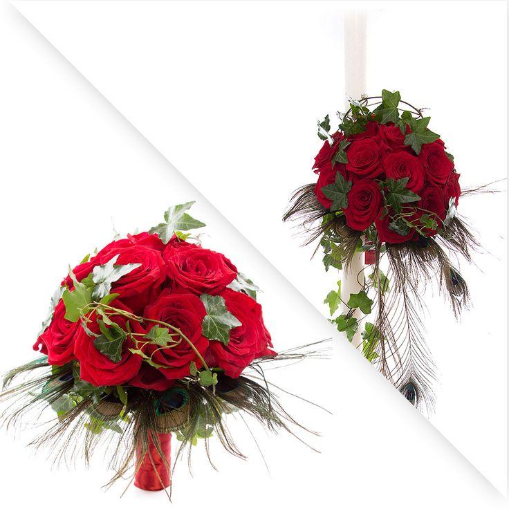 pachet de nunta cu trandafiri rosii: 2 lumanari de nunta si 1 buchet de mireasa https://www.floridelux.ro/pachet-nunta-trandafiri-rosii.html