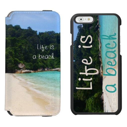 A beautiful white sand beach surrounded by trees. Life is a Beach! / Incipio Watson™ iPhone 6, 2-in-1 Wallet Case + Interior Case! #fomadesign