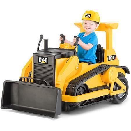 279.99 walmart.....................Kid Trax CAT Bulldozer 12-Volt Battery-Powered Ride-On