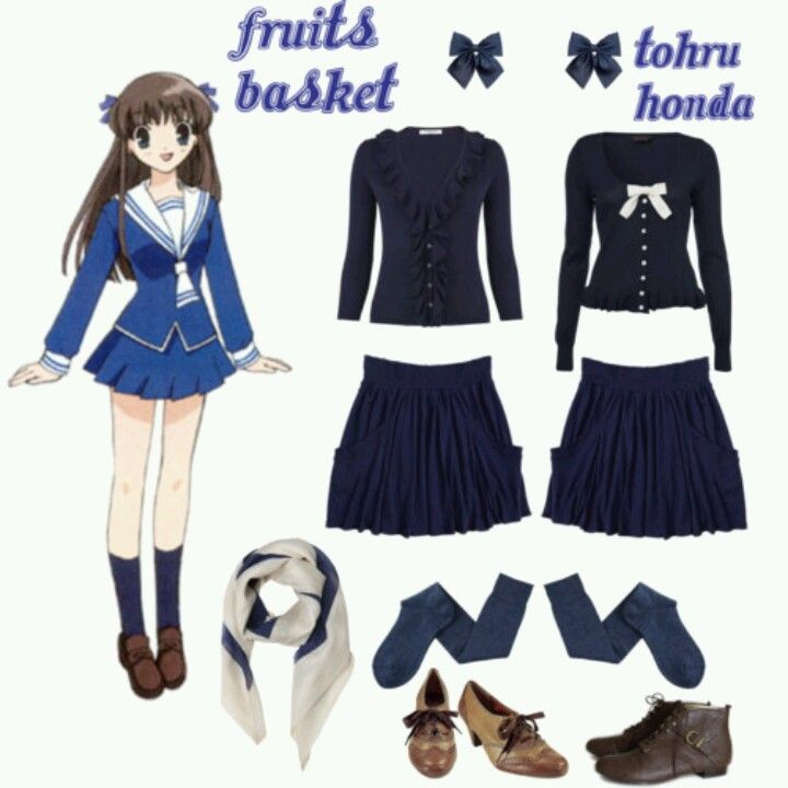 Casual cosplay of Tohru Honda (from Fruits Basket anime ... Tohru Fruits Basket Outfits