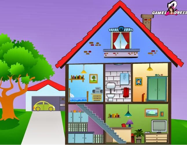 Juegos De Decorar Casas Habitaciones Dependencias De La Casa. | Abecedario | Language, Speech