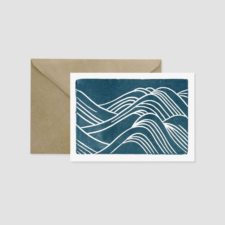 Japanese Waves Greeting Card More