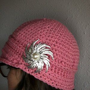 Crochet Pattern Womens FLapper Hat Brimmed With Free Form Trim Instant Download May Sell Finished – gorra sola