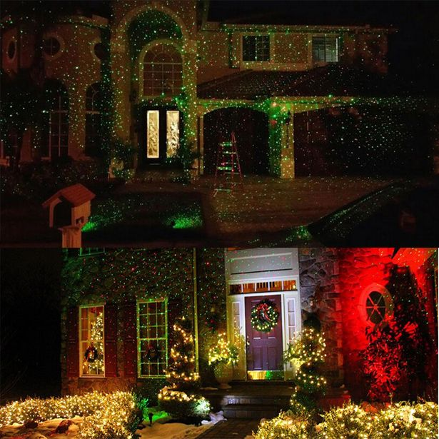 clearance dual color christmas light projector waterproof remote control - Christmas Lights Clearance Online
