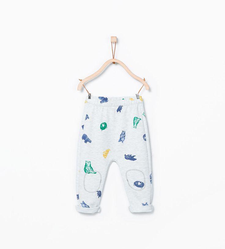 Animal decorative print leggings-Trousers-Baby boy (3 months - 3 years)-KIDS | ZARA United States