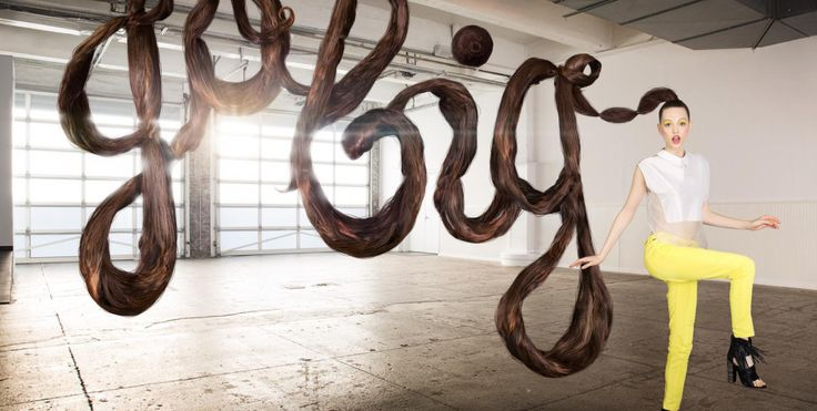 Featured Image for Floating letters made of human hair and other unusual items