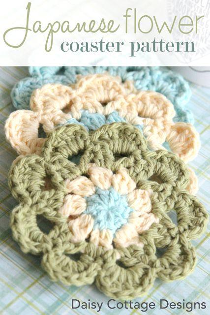 Free Crochet Daisy Coaster Pattern : Japanese Flower Crochet Pattern 2 Best of Daisy Cottage ...