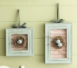 a single sunbeam: Birds Nest Decoration