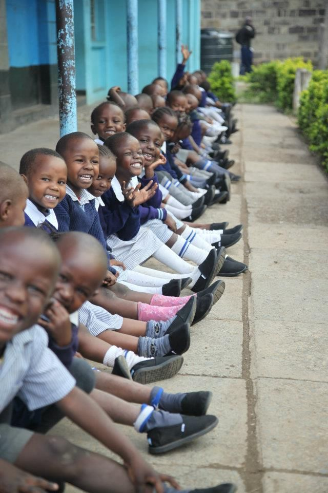 Kenya children with their little toms shoes :)