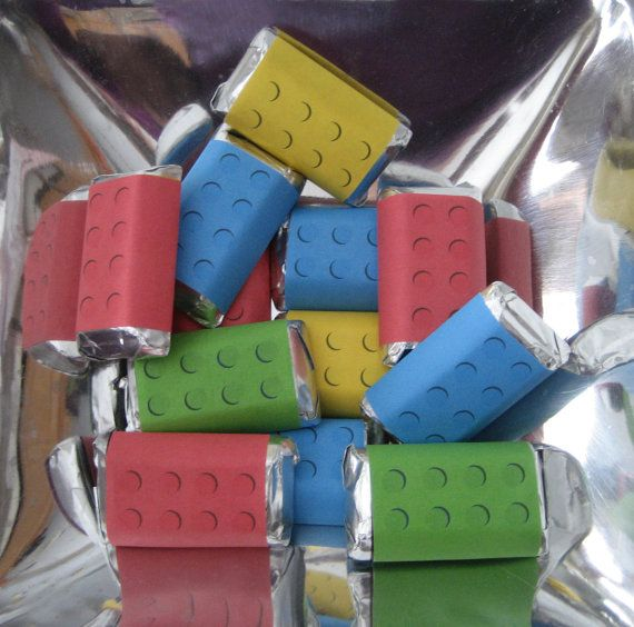 Building Blocks Mini Candy Bar Wrappers, INSTANT DOWNLOAD, DIY Digital Printable for Birthday Party