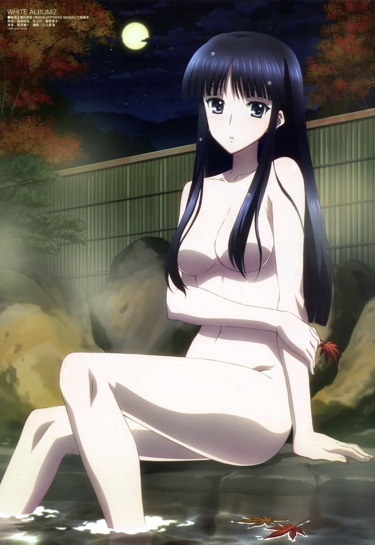 Touma Kazusa in a hot spring bath