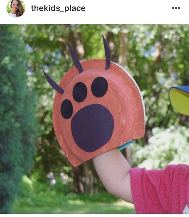 No Link Idea Only How To Make Paper Plate Animal Paws Clinical