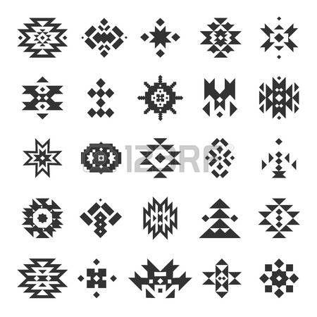 tissus ethnique: Vector abstract éléments géométriques
