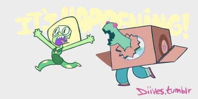 diives: Halp Oh my god this is too perfect Steven Universe, Peridot and the cluster(steven)