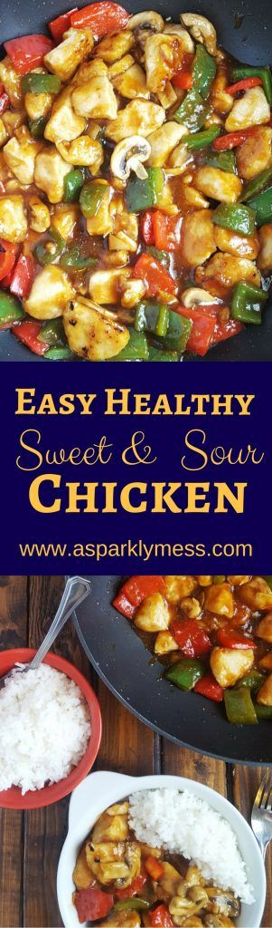 No need for take out with this Easy Healthier Sweet and Sour Chicken recipe. This homemade version is much better for you and has tons of flavor. Craving Chinese food, but you don't want the guilt. This easy healthier sweet and sour chicken recipe is a perfect alternative, it is so simple with only 10...