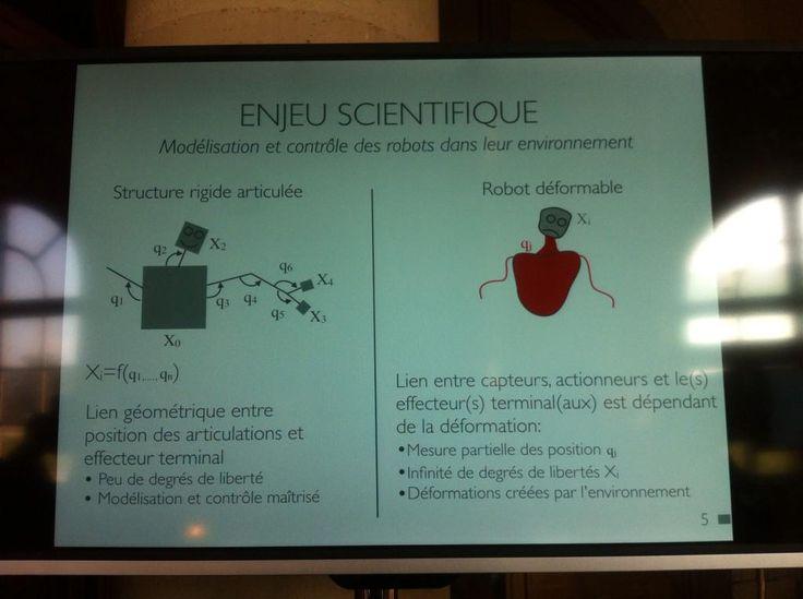 Révolutionner la #robotique avec les robots mous avec @Defrost_Lille http://team.inria.fr/defrost  #InriaAuSenat