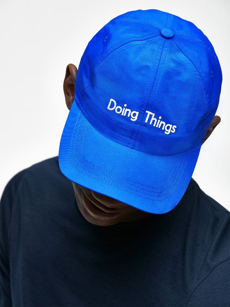 For the avid dog walker, jogger and all around Recreationalists, the Doing Things Hat exemplifies our active lifestyle mantra.   Created for Doing Things Day, a nation-wide celebration of activity, Five Dollars of each hat will be donated to Partnership for a Healthier America to help kids lead healthy, active lives. It keeps the sun out of your eyes, too.  100% 4-Ply Nylon Taslan.    Made in the USA.