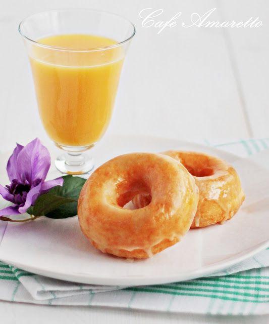 Pomarańczowe pączki z dziurką @cafeamaretto