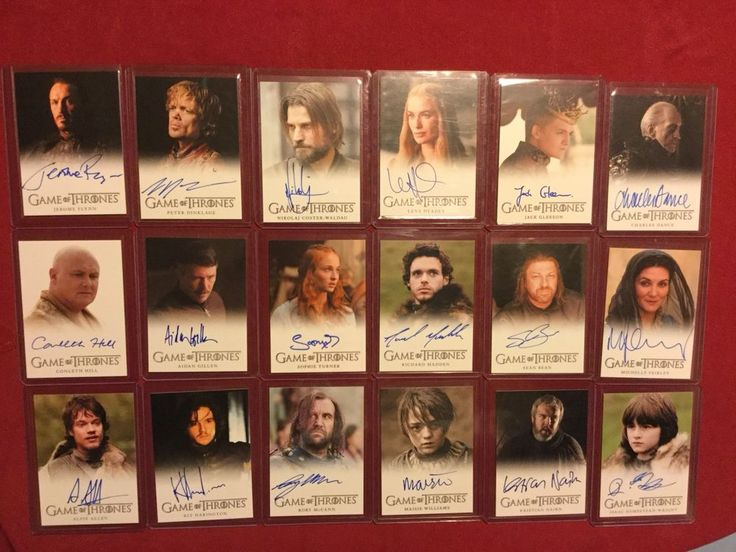 GAME OF THRONES Rittenhouse Autograph Set/Lot 74 cards Full Bleed    eBay