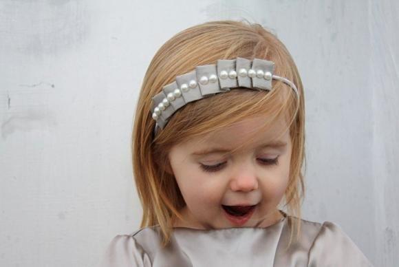 Нарядная повязка для волос, обруч для девочек своими руками
