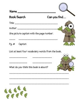 A FREE one page sheet used to have students search a section of a textbook or non-fiction. We use it with our take home books.Graphics from: w...