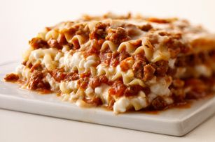 Cheesy Lasagna - replace ground beef with Italian sausage for a spicy twist