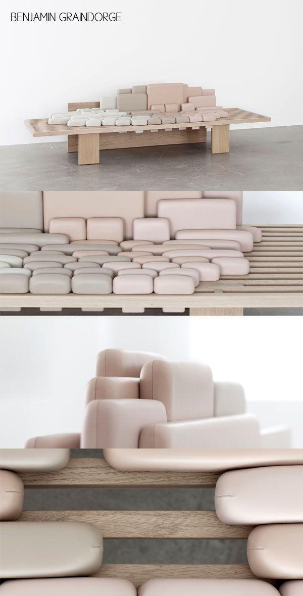 Benjamin Graindorge,canapé,sofa,design,diseño