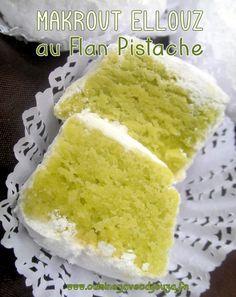 Makrout el louz au flan pistache, une recette économique alliant farine et amande qui vous plaira de réaliser pour l'Aid ou le Ramadan