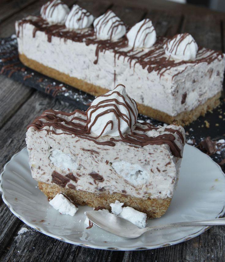 Mjölkchokladscheesecake med maränger – Lindas Bakskola