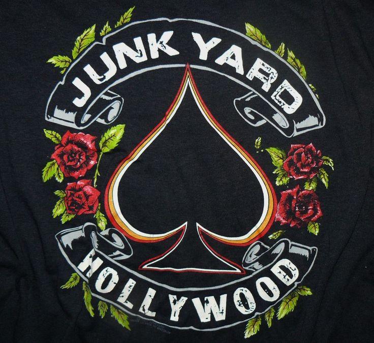 "#80s vtg junk yard ""hollywood"" concert t-shirt junkyard metal guns n roses mint…"