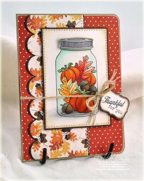 mason jar cards | Cards--Mason Jar / autumn