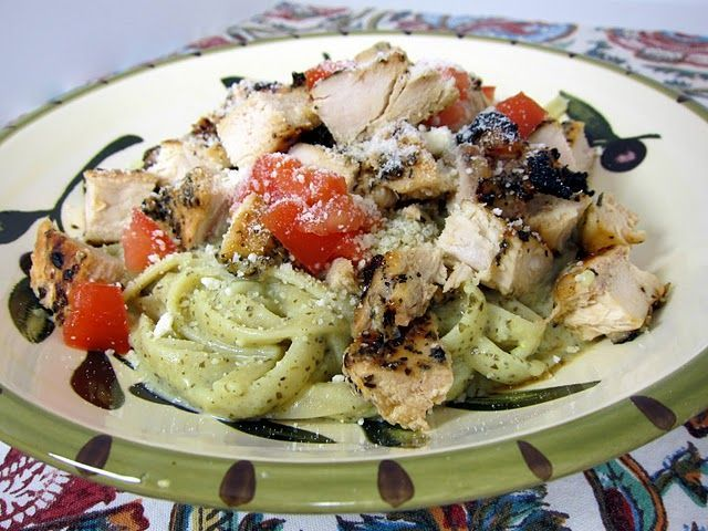 #Hühner #Huhn #Cremig #Mon #Pesto #Pasta