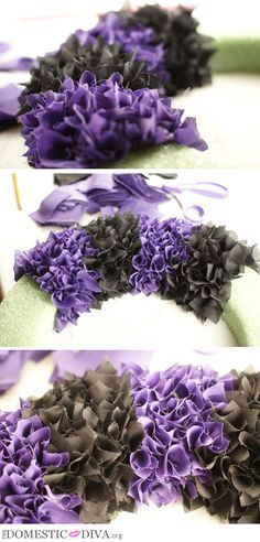 The Domestic Diva » How to make a Halloween Rag Wreath