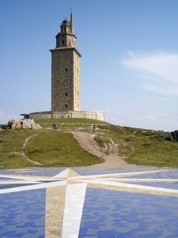Tower of Hercules (Torre De Hercules), a Coruña, Galicia, Spain,