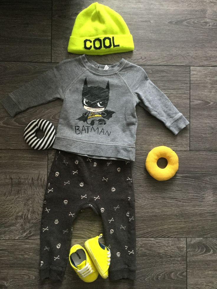 Batman H&M, joggers Zara, Cool Cap + shoes GAP