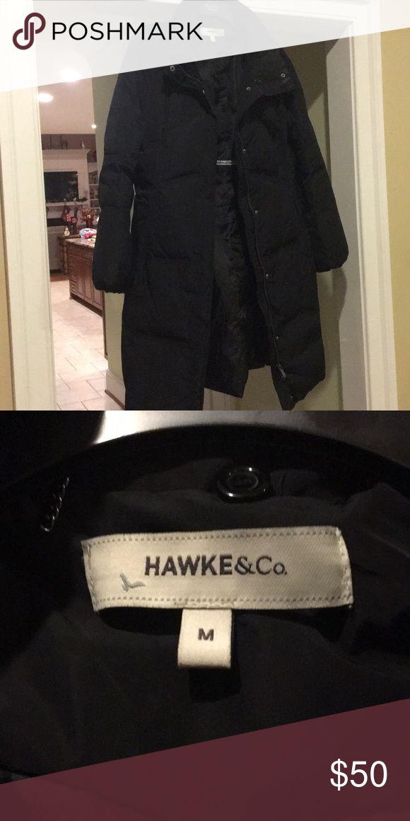 Ladies Down Coat Black, Ladies medium, like new, warm! Hawke and Co. Outerwear brand Hawke & Co Jackets & Coats Puffers