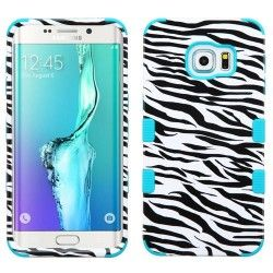 Samsung S6 Edge+ Hybrid Tuff Design Zebra/Tropical Teal