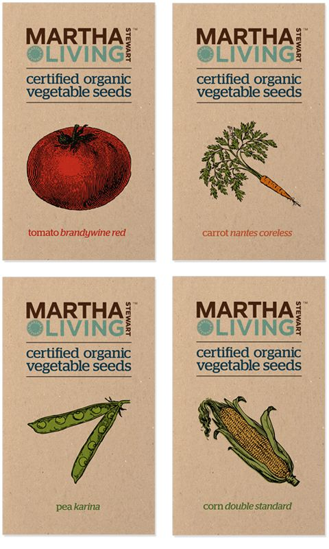 Organic Seed Packaging by Kristina Shu, via Behance