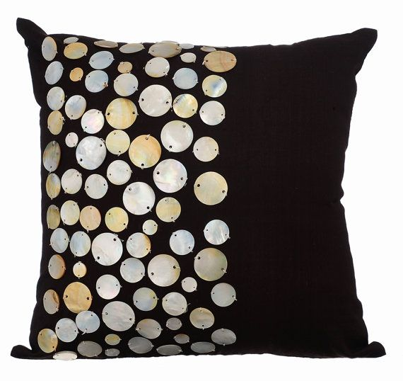 brown throw pillow cover square gold mother of by
