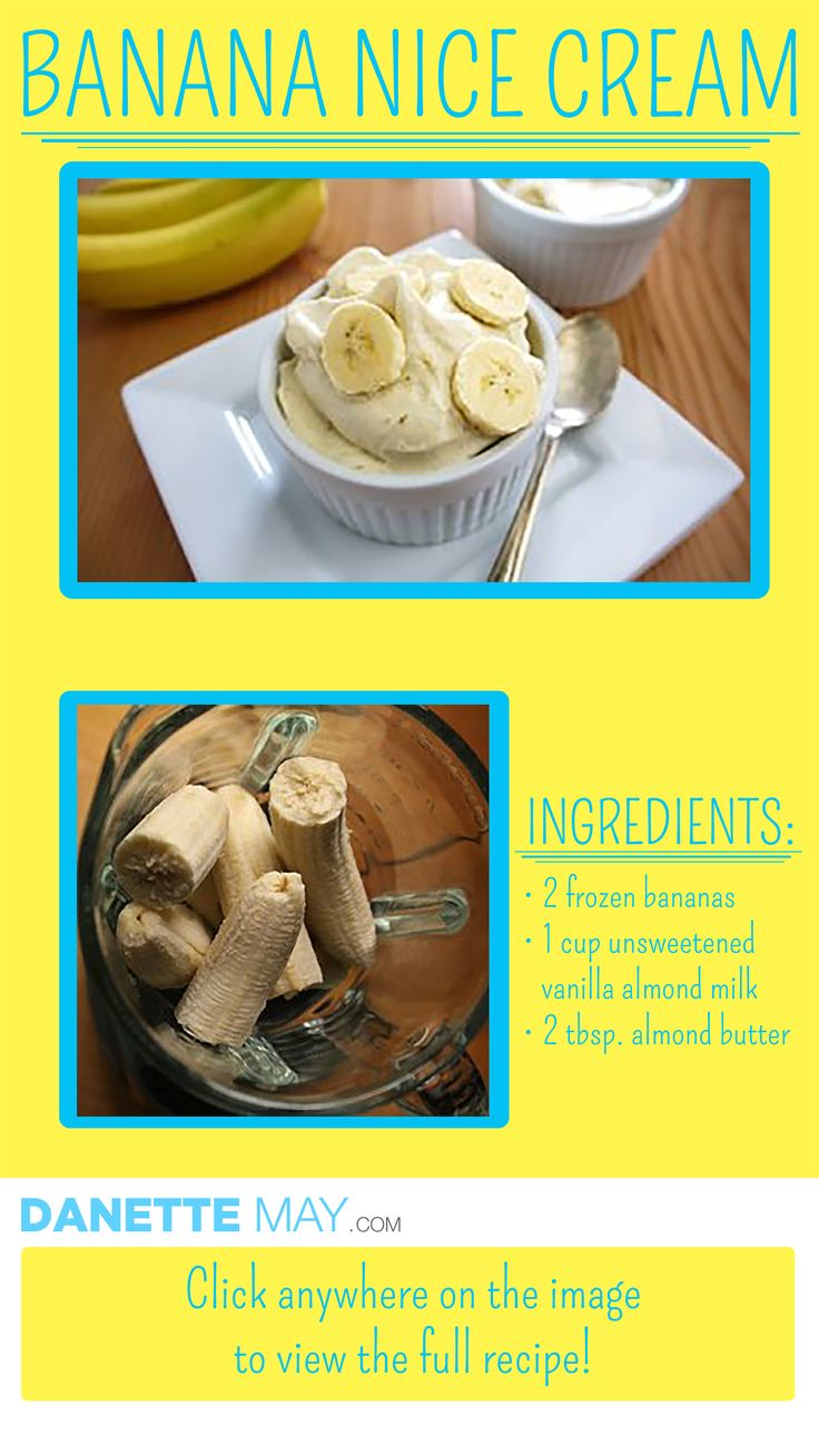 Banana Nice Cream is a skinny sweet treat!   Healthy Dessert | Clean Eating Ice Cream Recipe |