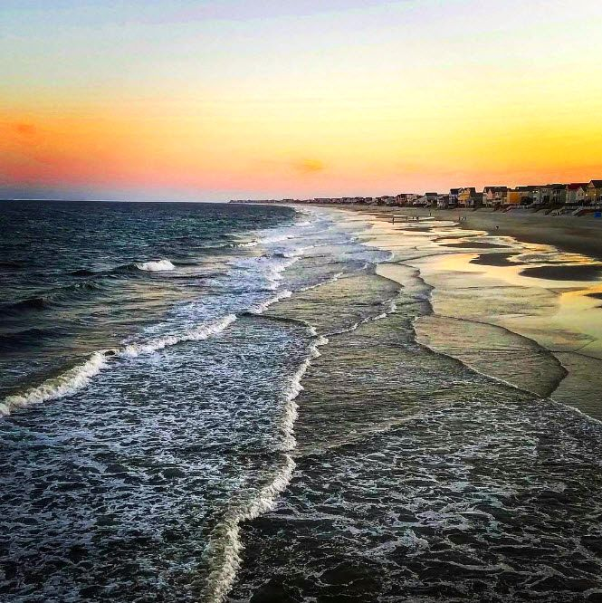 Sunset View From Garden City Beach Sc Pier Photo Via Ig User The Mrs Smith Garden City Beach Myrtle Beach Area Garden City Beach Sc