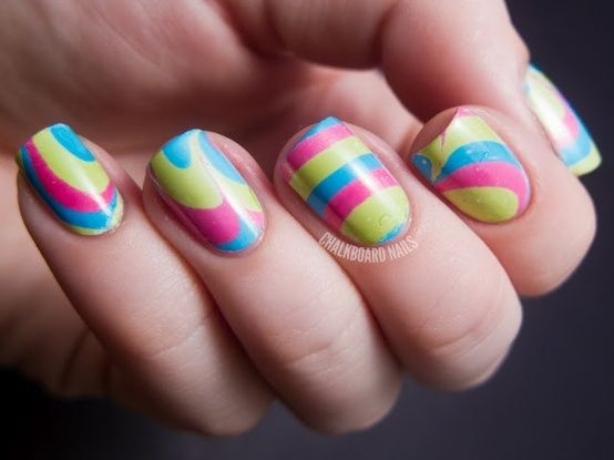 Vivid color striped nails colorful nails nail stripes color pretty nails nail art nail ideas nail designs vivid...something to try.... maybe