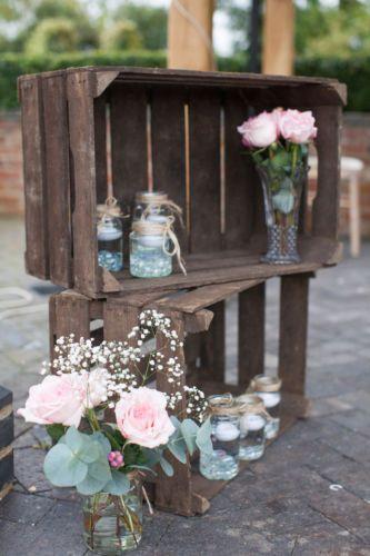 Vintage Wooden Apple / Fruit Crate - Rustic Wedding Shabby Chic Decor Bushel Box   eBay