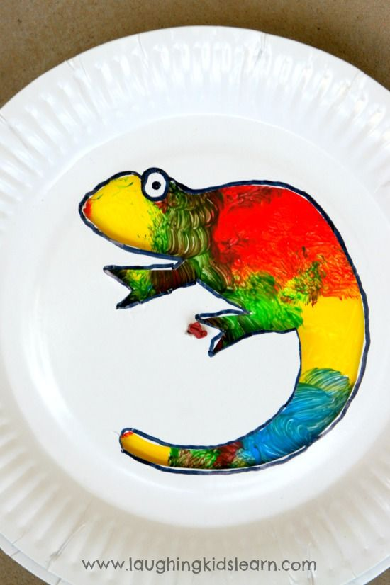 Here is a colour changing Chameleon craft activity for kids using paper plates. So easy to make and fun to play with. The Chameleon is fascinating.