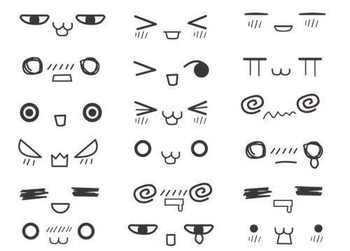 Kawaii eyes draws