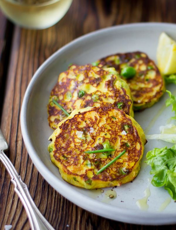 Saffron, Ricotta and Pea Pancakes {Gluten-Free} | The Bojon Gourmet