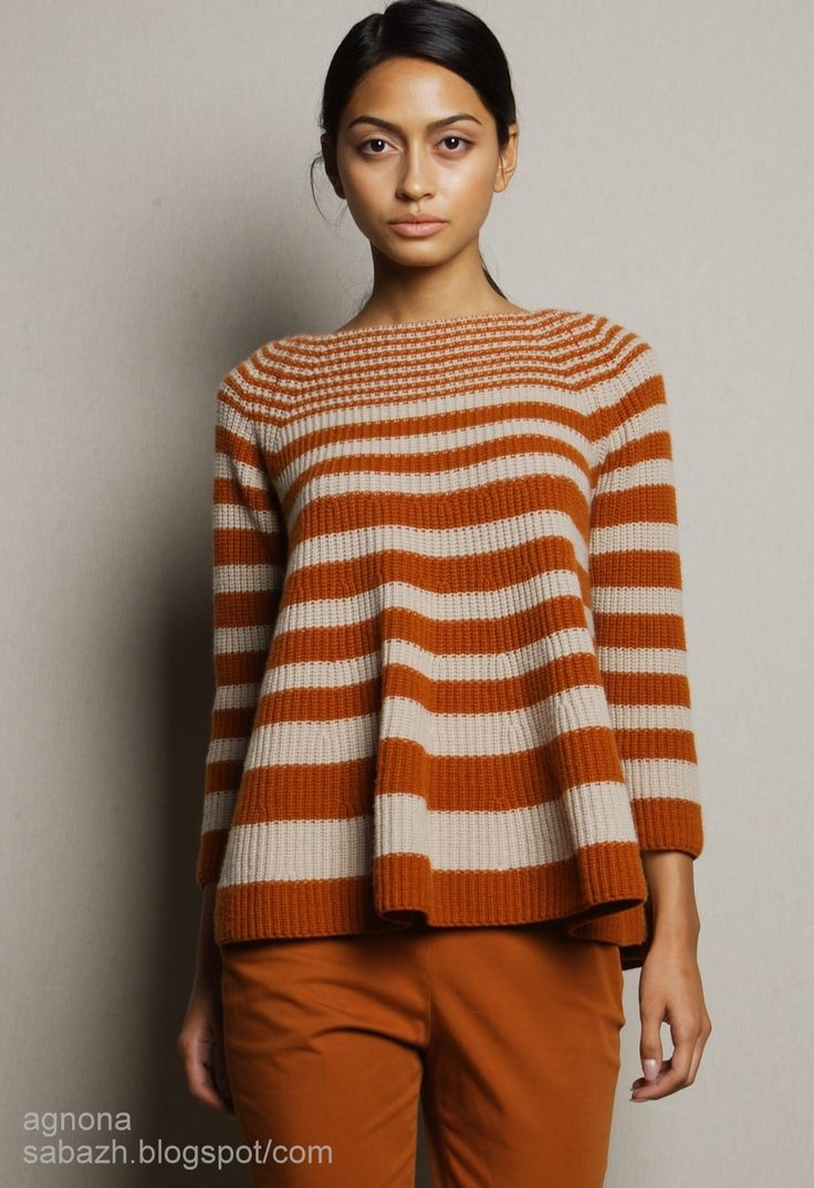 I love the flowy bottom of this knitted sweater.